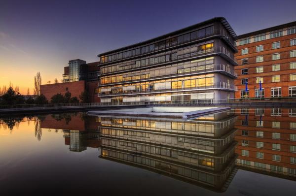 modern buildings dammers saarbrucken