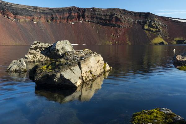 volcano crater ljotipollur landmannalaugar fjallabak nature