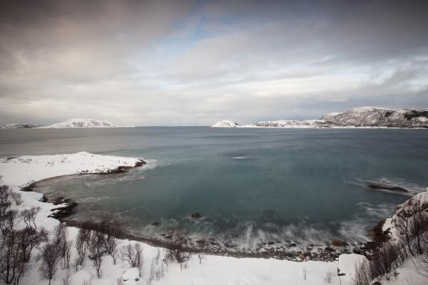bay at somaroy in winter