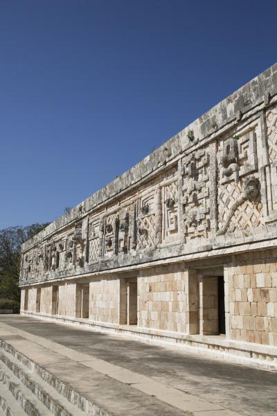nuns quadrangle uxmal mayan archaeological site