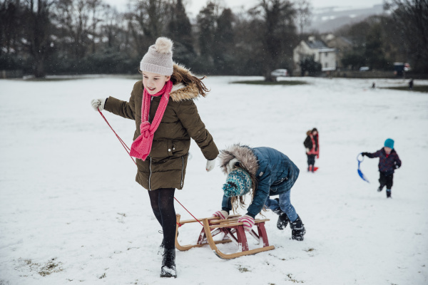 going for a sled race