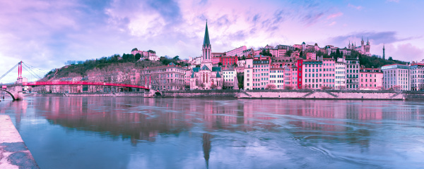 old town of lyon at gorgeous