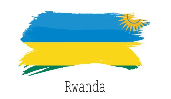 rwanda flag on white background