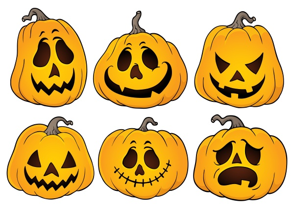 halloween pumpkins theme set 3