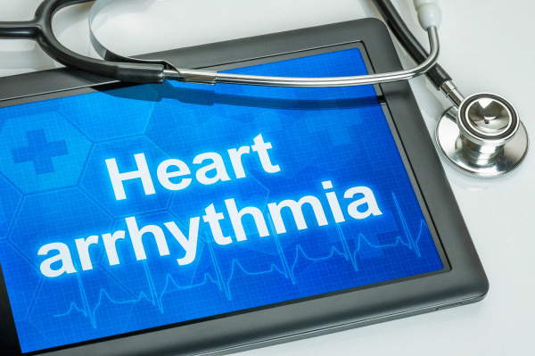tablet with the text heart arrythmia