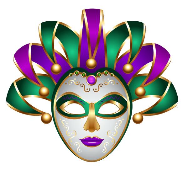 green purple carnival mask mardi gras