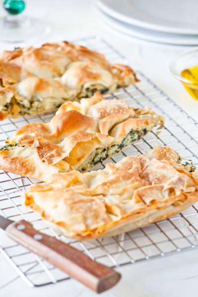 homemade greek spinach pie