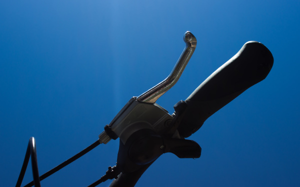 detail of the bicycle brake and