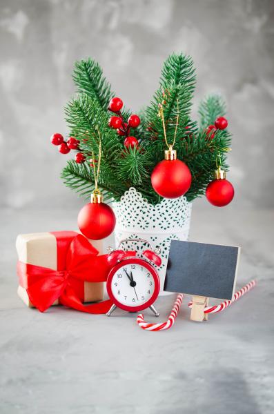 christmas composition xmas fir branches
