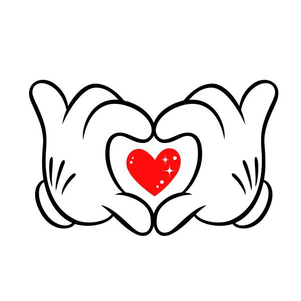 hands sign heart gesture romantic valentines