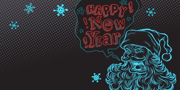 bad santa happy new year