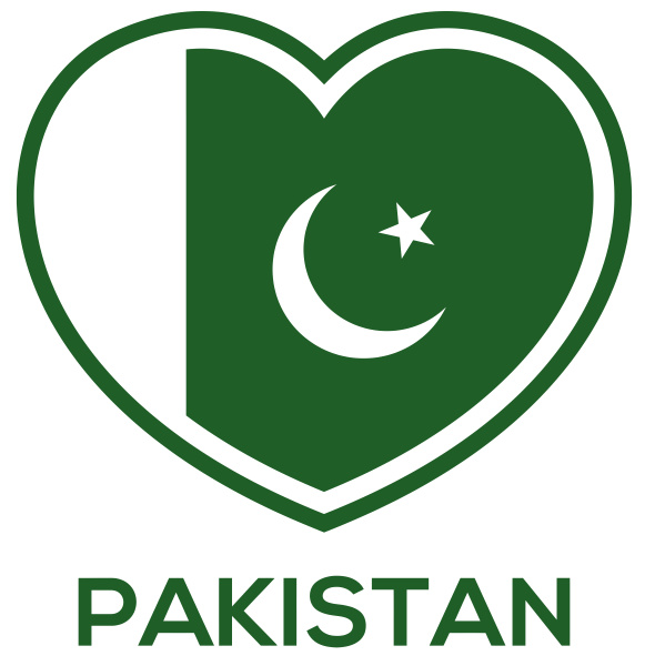 pakistan heart country flag love pride
