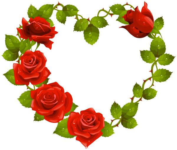 roses heart shape love romantic red