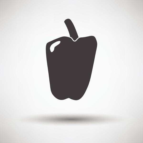 pepper icon pepper icon on gray