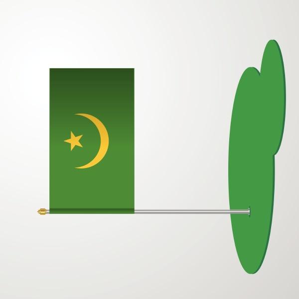 mauritania flag pole