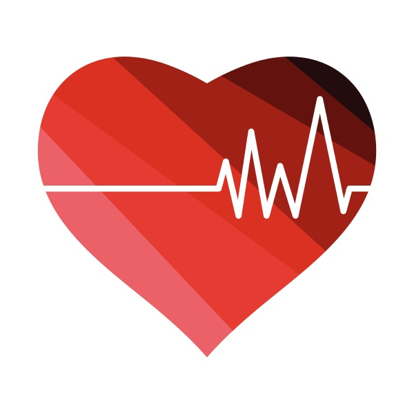 heart with cardio diagram icon heart