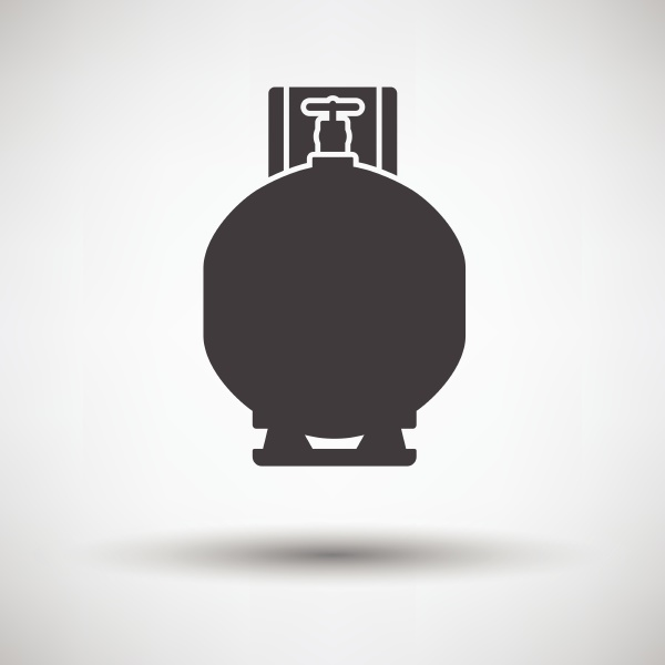 gas cylinder icon on gray background