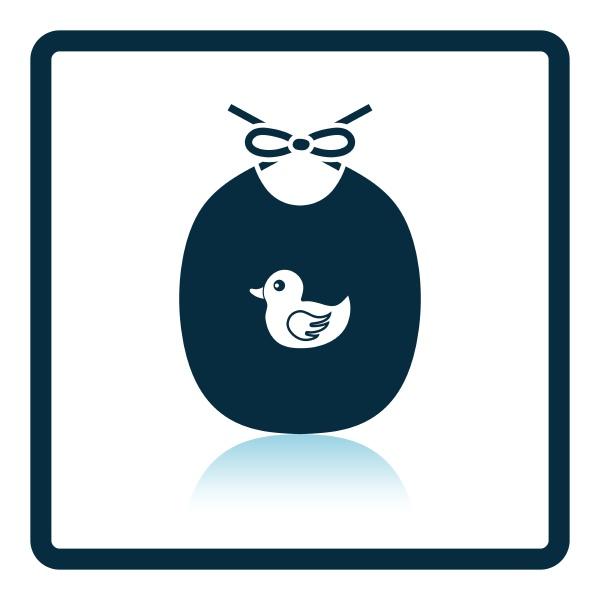 bib icon shadow reflection design