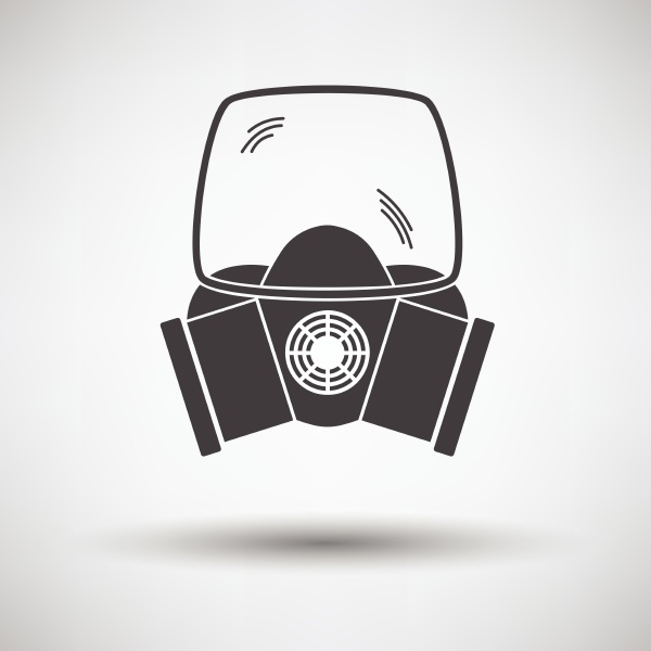 fire mask icon on gray background