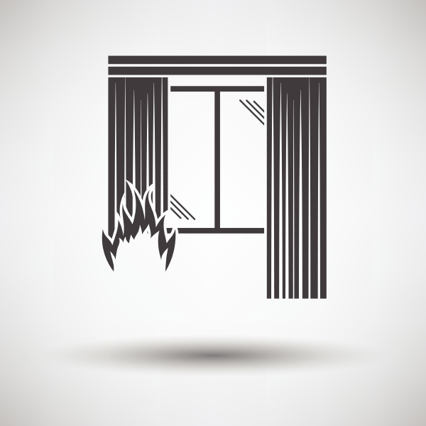 home fire icon on gray background