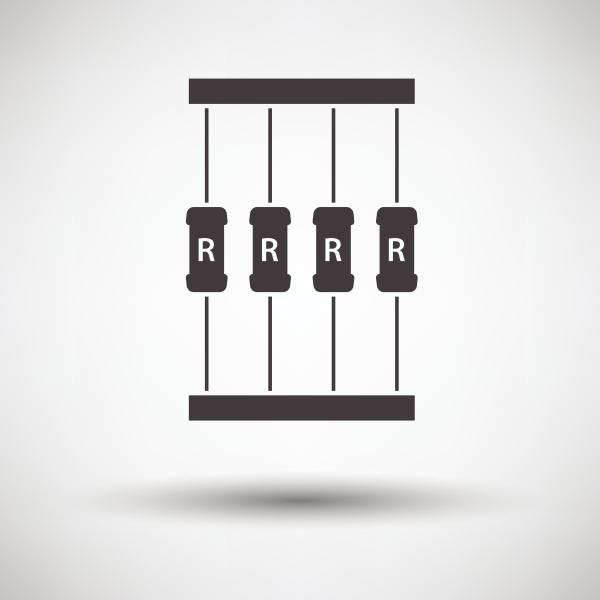 resistor tape icon on gray background