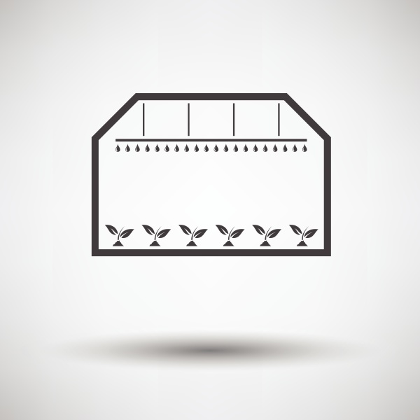 greenhouse icon on gray background with