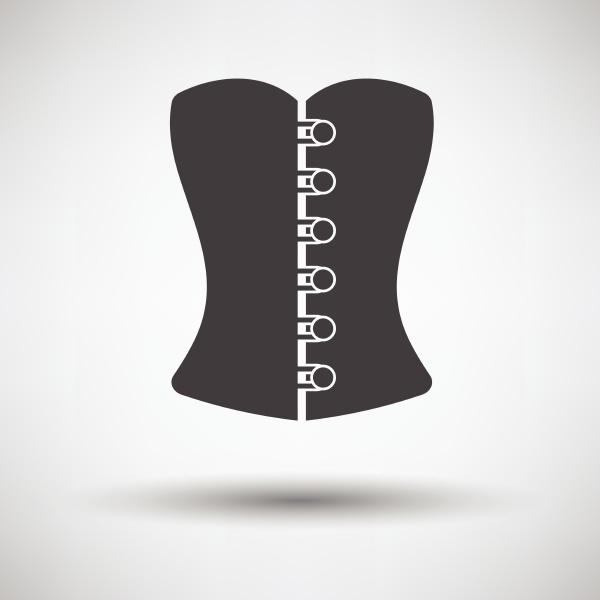 sexy corset icon on gray background