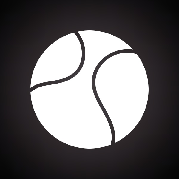 tennis ball icon black background with