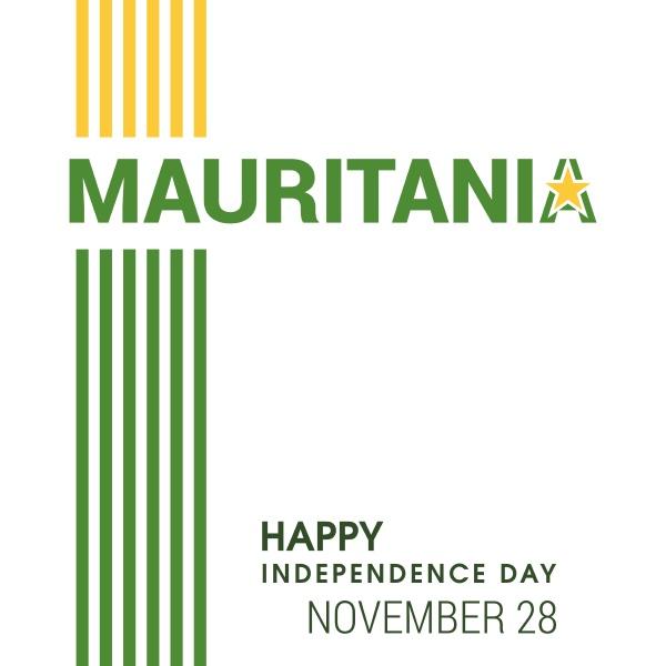mauritania flag design vector