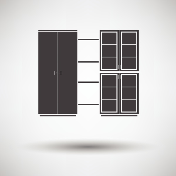 office cabinet icon on gray background