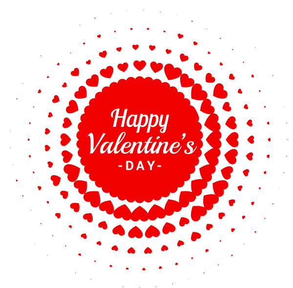 hearts happy valentine day red love