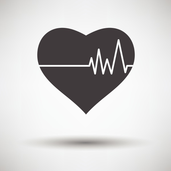 heart, with, cardio, diagram, icon, on - 26297955