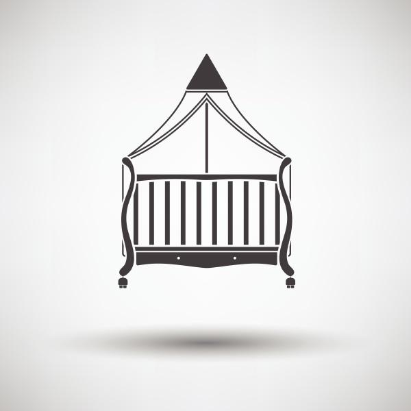 cradle icon on gray background round