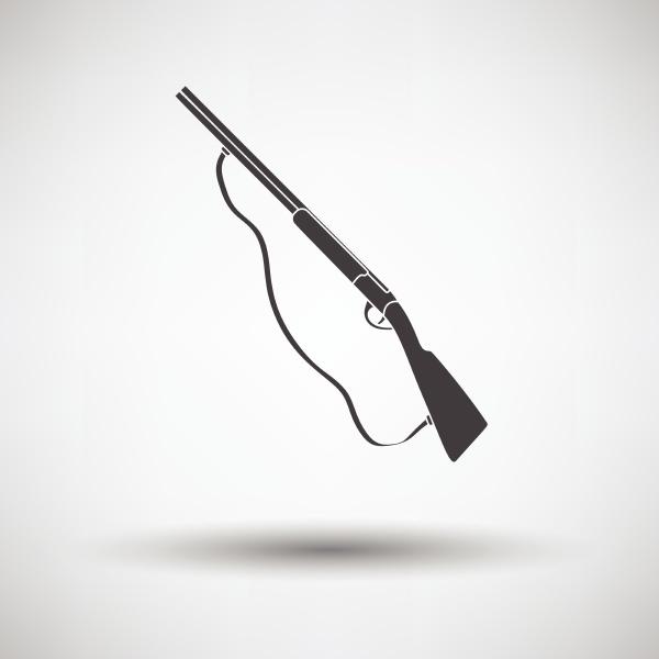 hunt gun icon on gray background