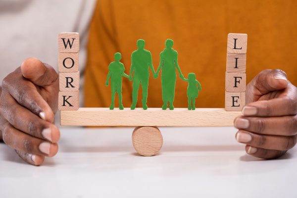 person protecting work and life balance