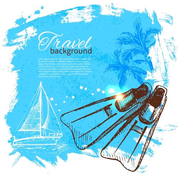 travel colorful tropical design splash