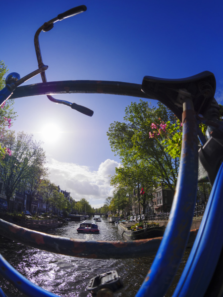 netherlands amsterdam bicycle at