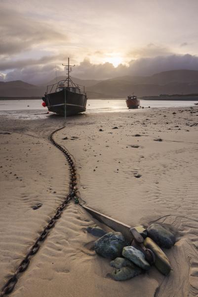 old fishing boat barmouth harbour gwynedd