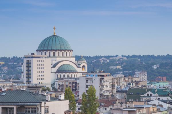 view of st sava orthodox