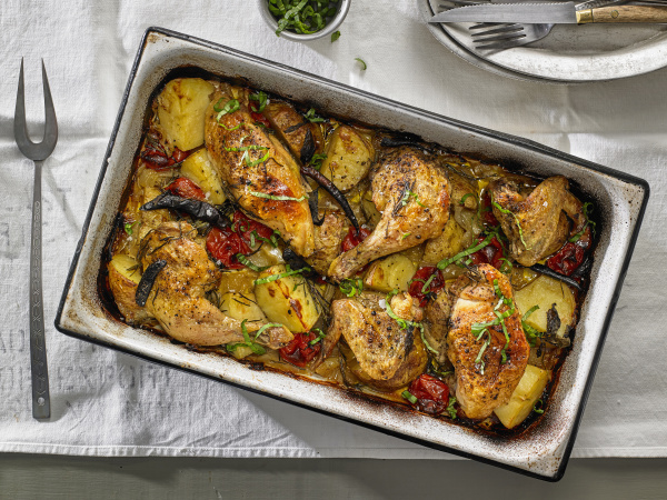 chicken baked with yukon gold potatoes