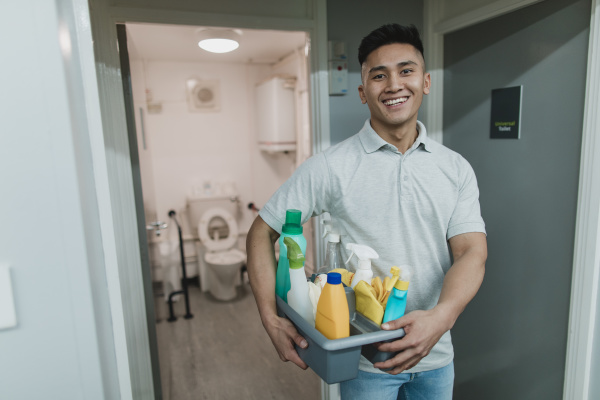 portrait of a male cleaner