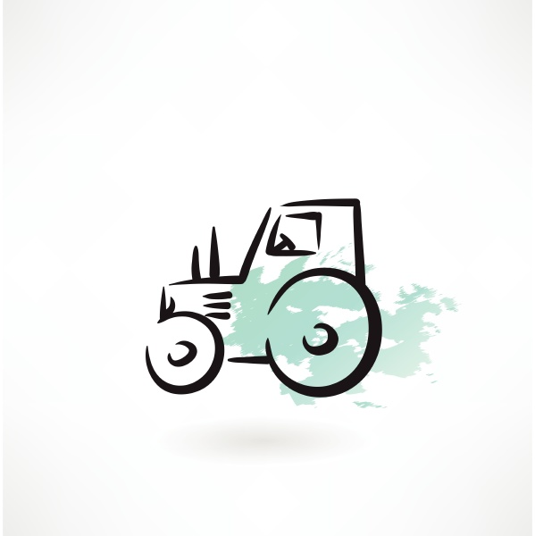 tractor grunge icon