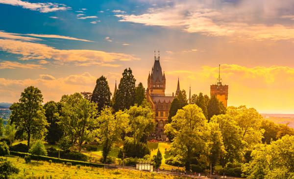 schloss drachenburg castle is a palace