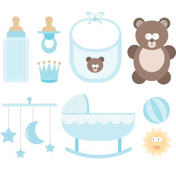 baby icon set child