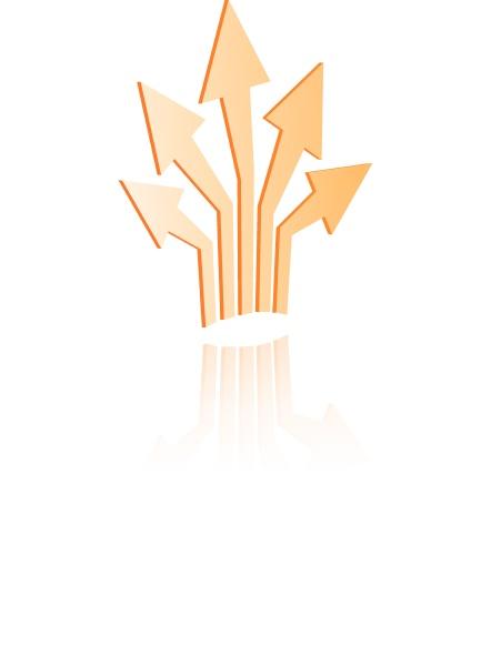 shiny icons arrows spreading