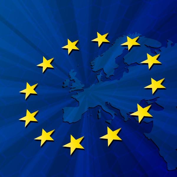 europe, map, and, european, union, flag. - 26800449