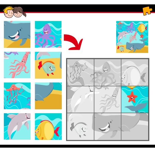 jigsaw puzzles with sea life animals