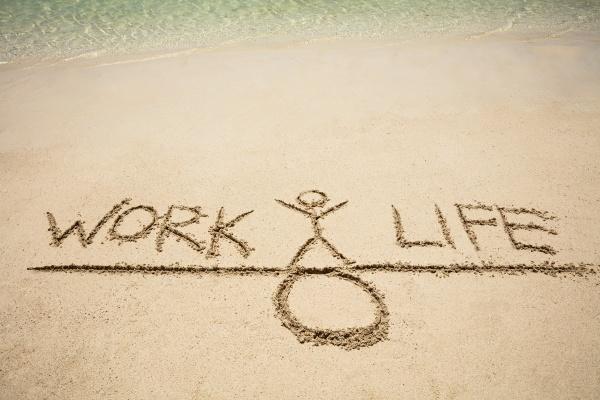 work and life balance concept on