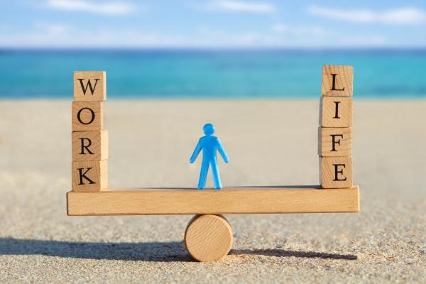 wooden work and life blocks balancing