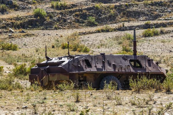 rusting military transport vehicle adi